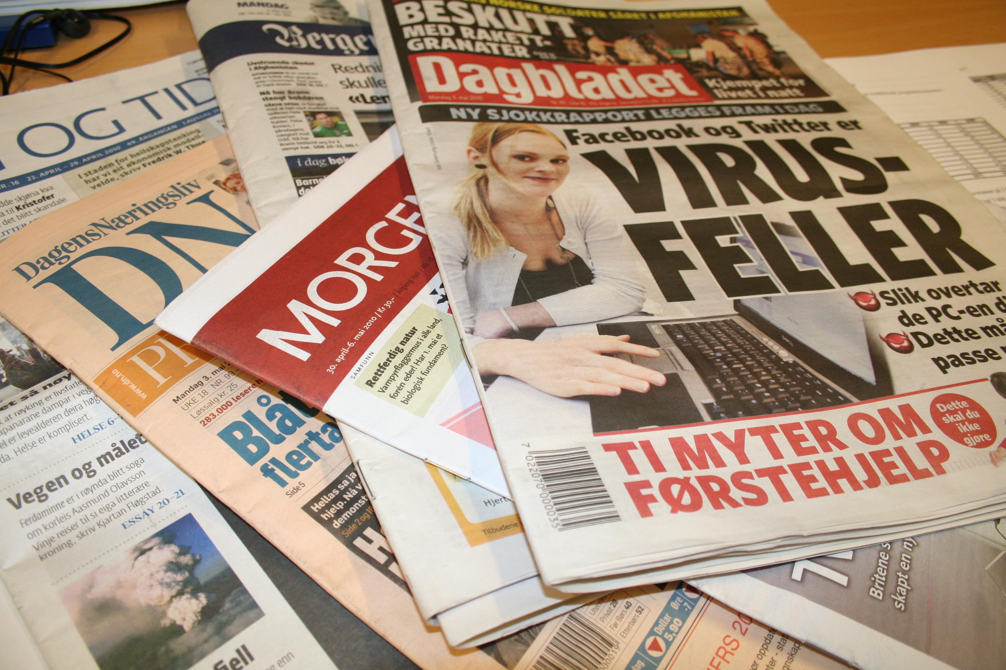 flere aviser i norge